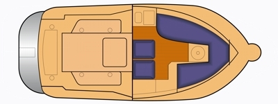 Grundriss und Kojenaufteilung Arvor 690