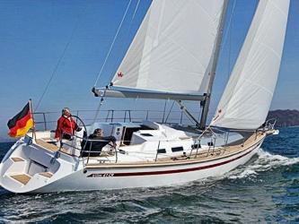 Segelyacht Vilm 41 CR ab Hafen Rostock